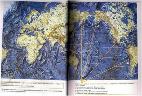 Карта полушарий Земли с